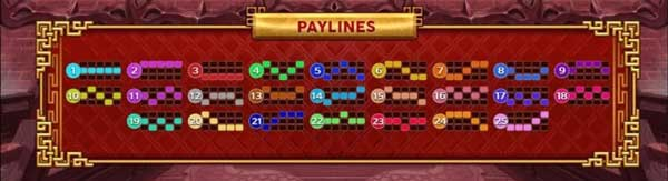 Dragon Power Flame Pay lines