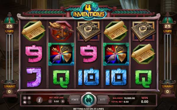 The Four Inventions Features in the game